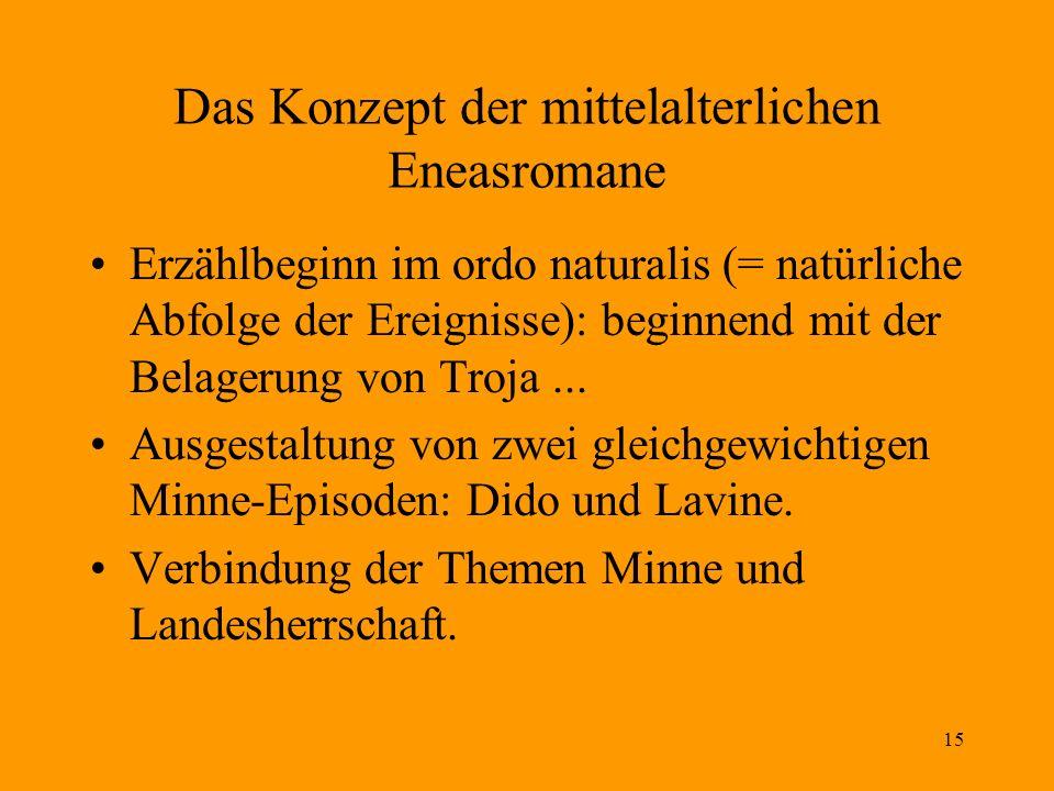 Das Konzept der mittelalterlichen Eneasromane
