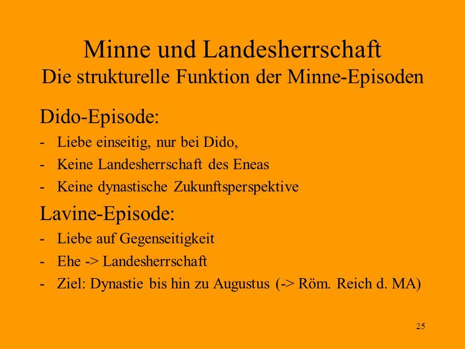 Minne und Landesherrschaft Die strukturelle Funktion der Minne-Episoden