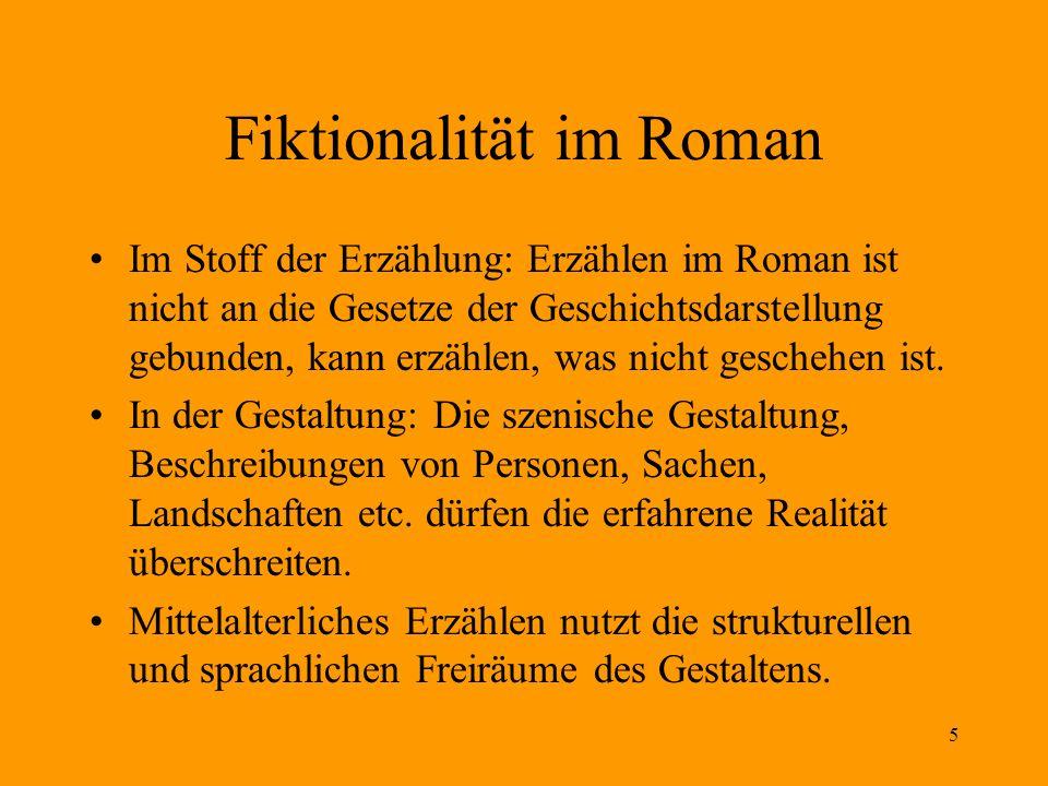 Fiktionalität im Roman