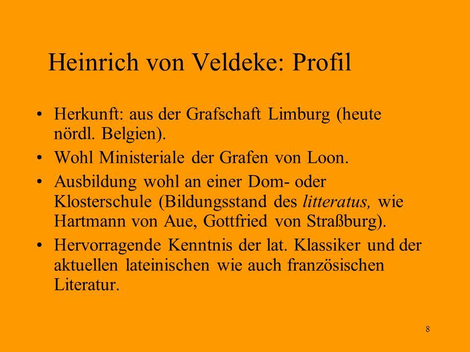 Heinrich von Veldeke: Profil