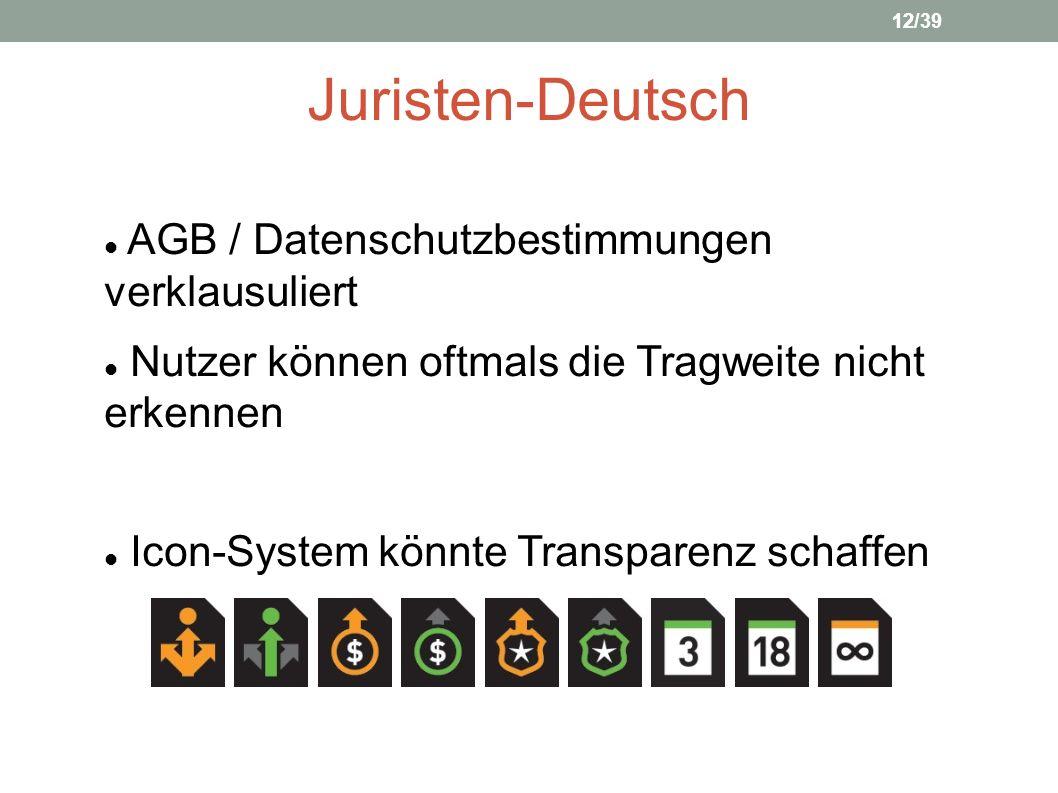 Juristen-Deutsch AGB / Datenschutzbestimmungen verklausuliert