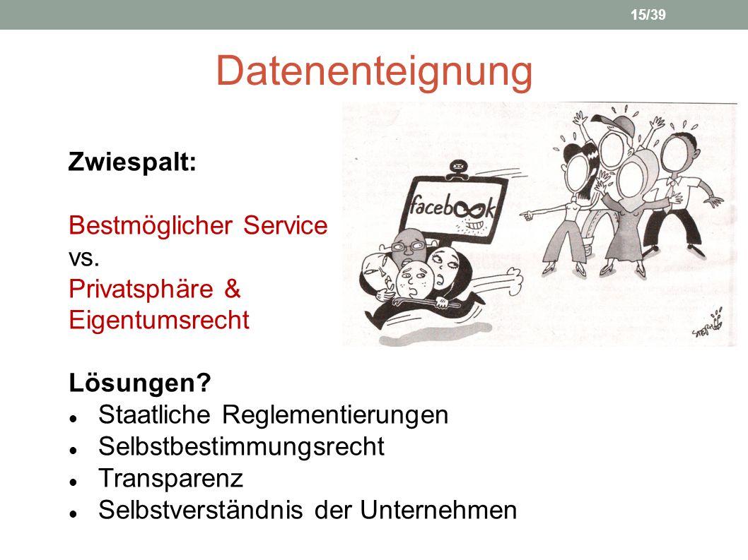 Datenenteignung Zwiespalt: Bestmöglicher Service vs. Privatsphäre &