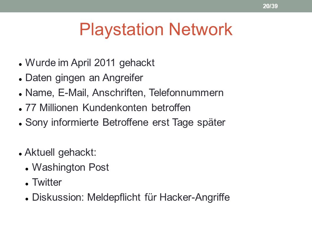 Playstation Network Wurde im April 2011 gehackt