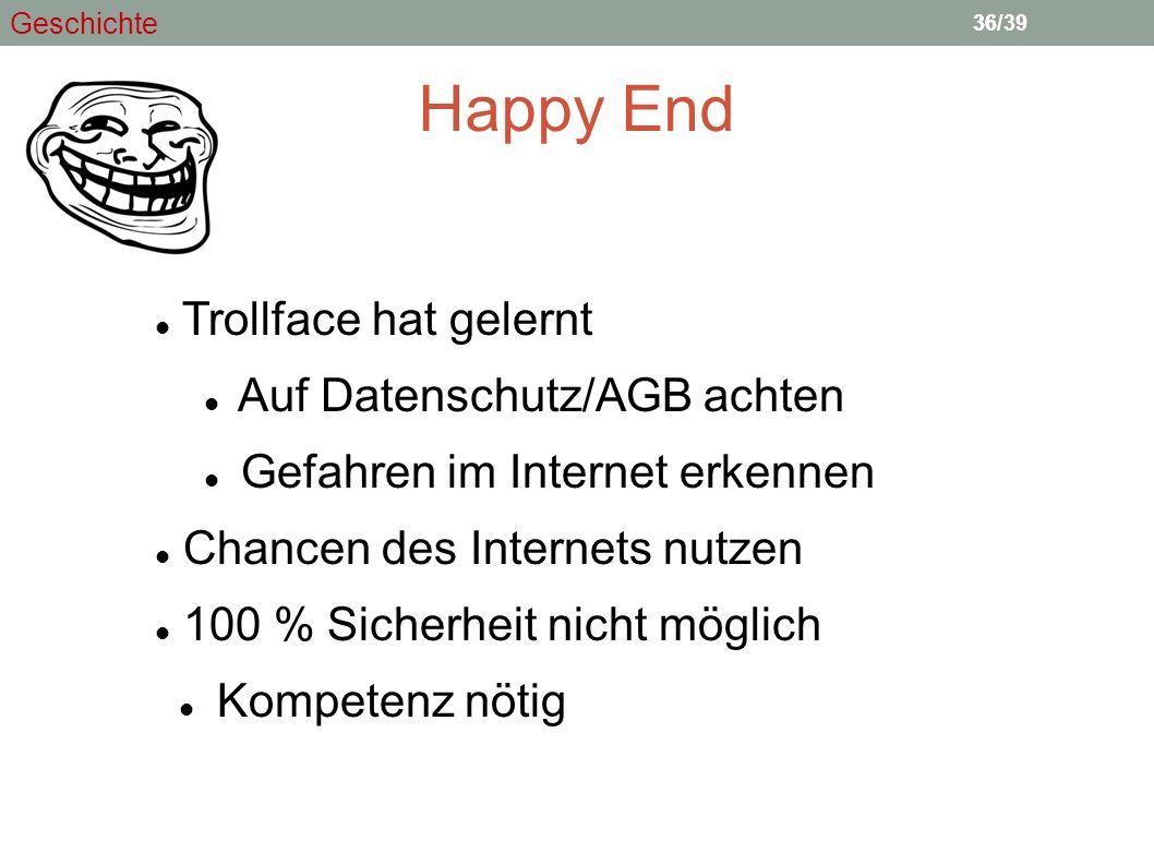 Happy End Trollface hat gelernt Auf Datenschutz/AGB achten