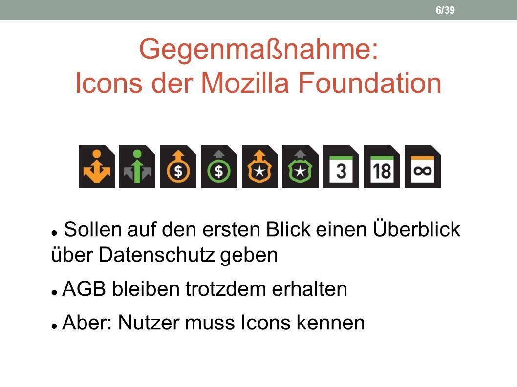 Gegenmaßnahme: Icons der Mozilla Foundation