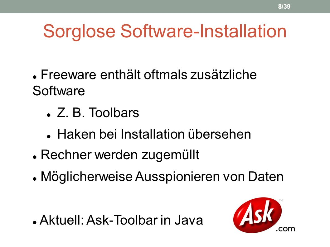 Sorglose Software-Installation