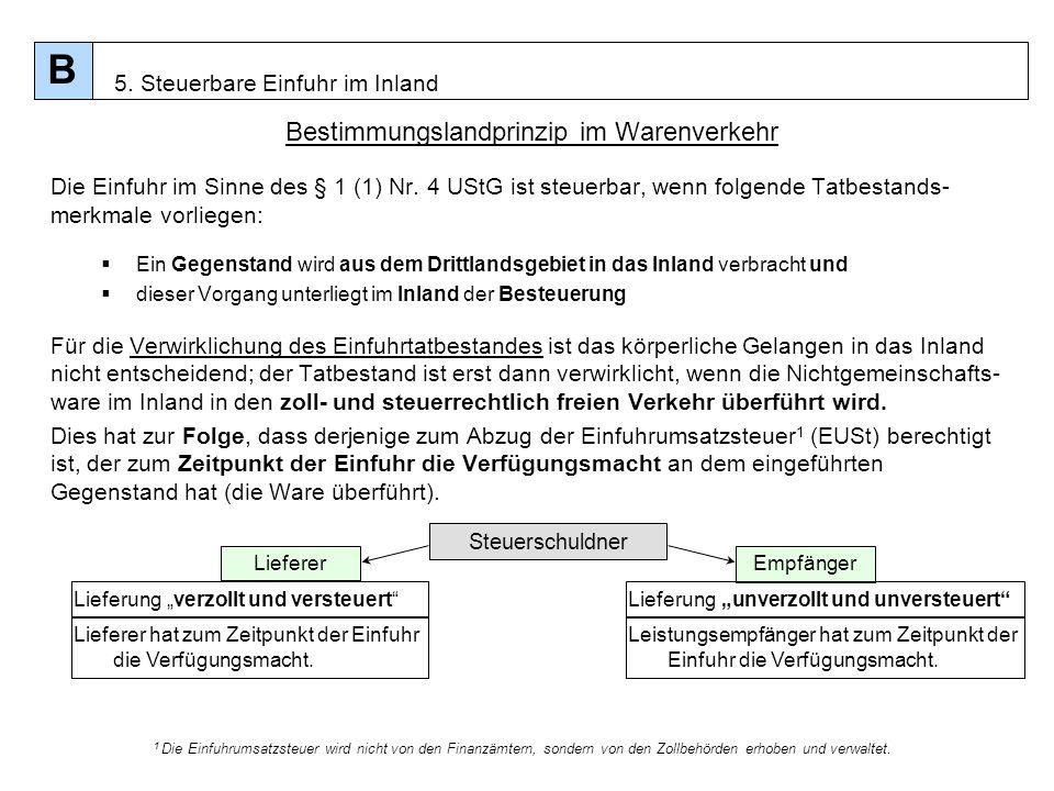 Bestimmungslandprinzip im Warenverkehr