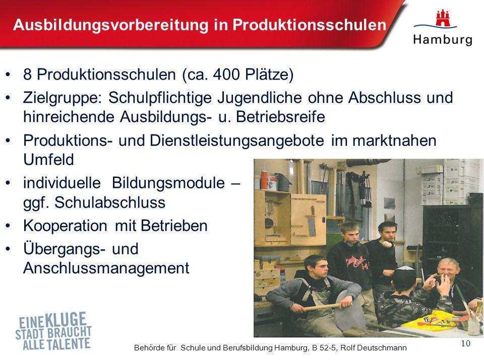 Ausbildungsvorbereitung in Produktionsschulen