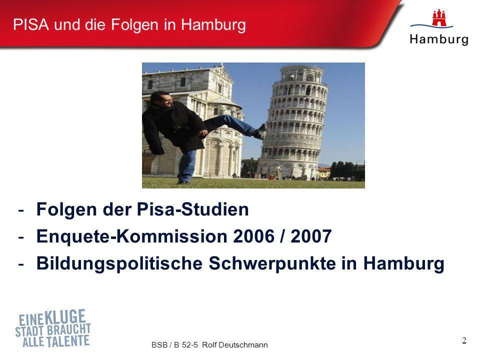 PISA und die Folgen in Hamburg