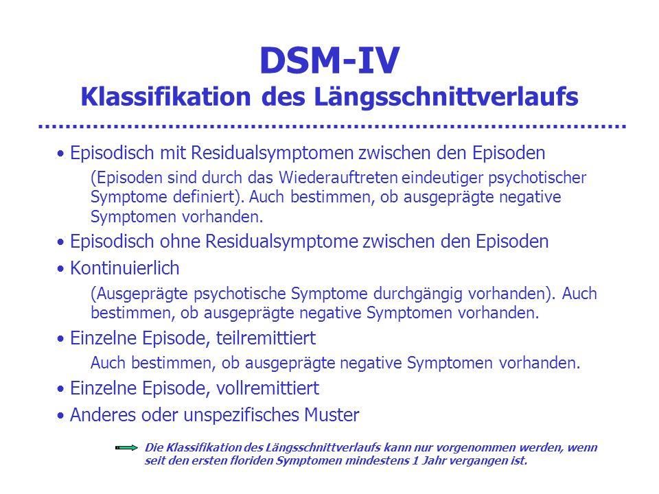 DSM-IV Klassifikation des Längsschnittverlaufs