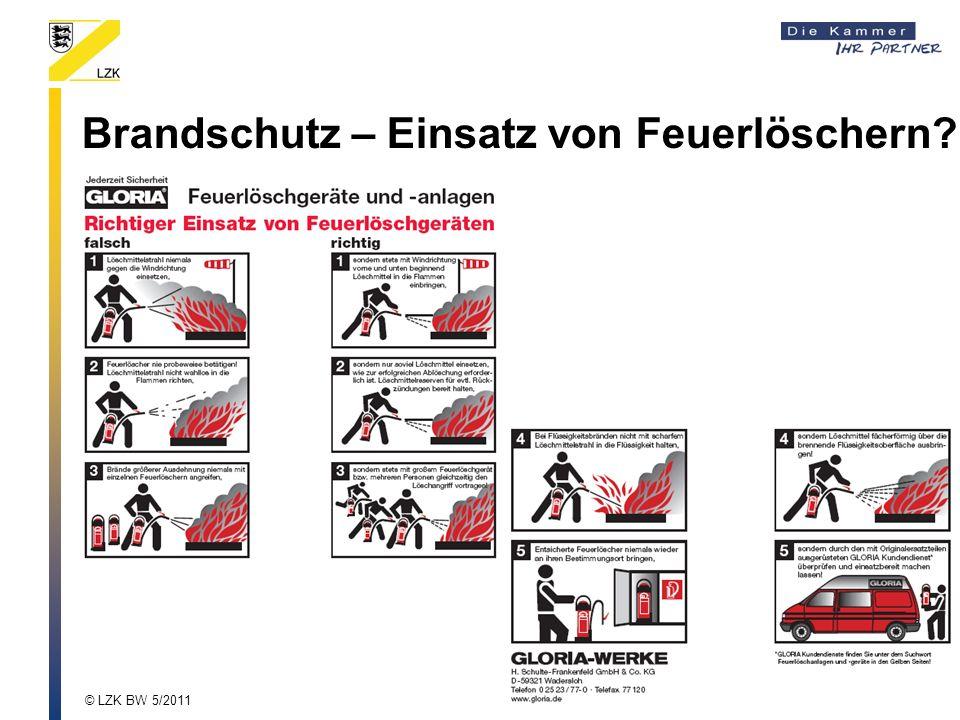 Brandschutz – Einsatz von Feuerlöschern