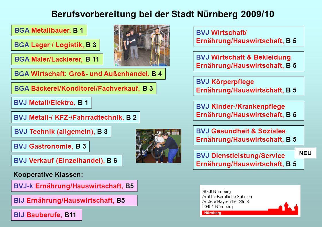 Berufsvorbereitung bei der Stadt Nürnberg 2009/10