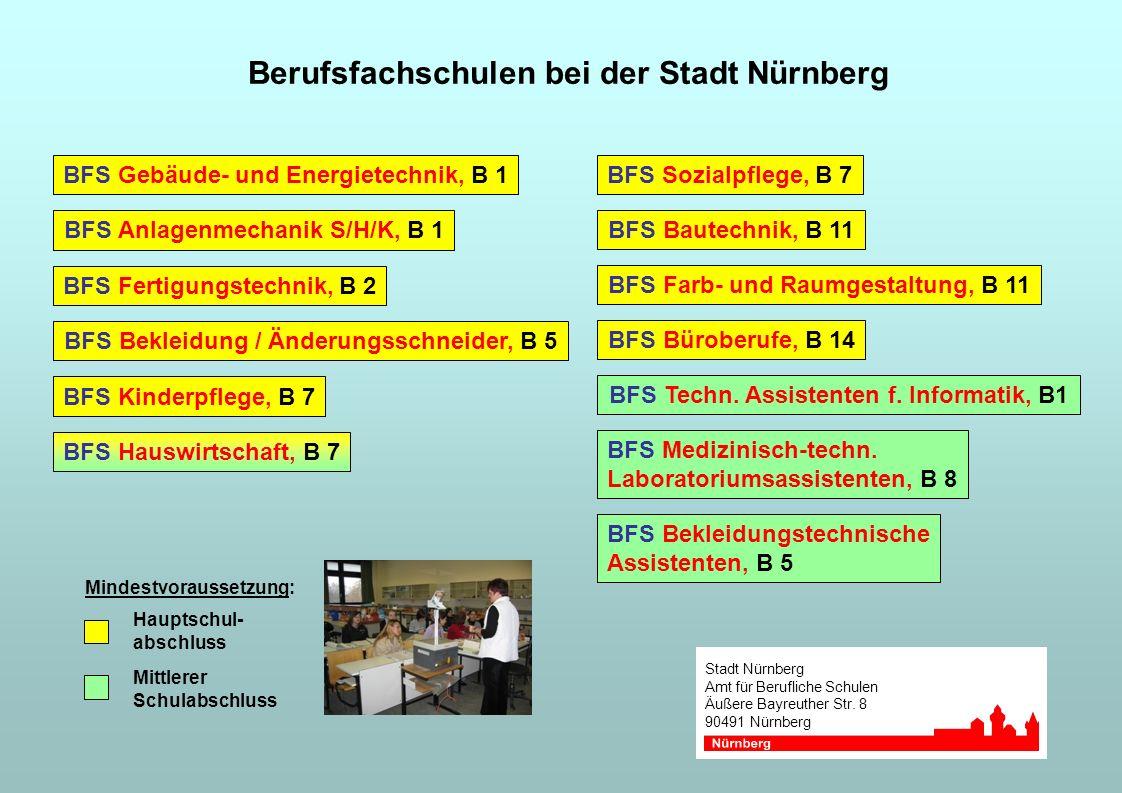 Berufsfachschulen bei der Stadt Nürnberg