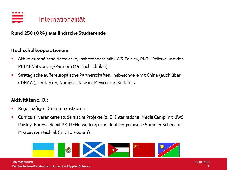 Internationalität Rund 250 (8 %) ausländische Studierende