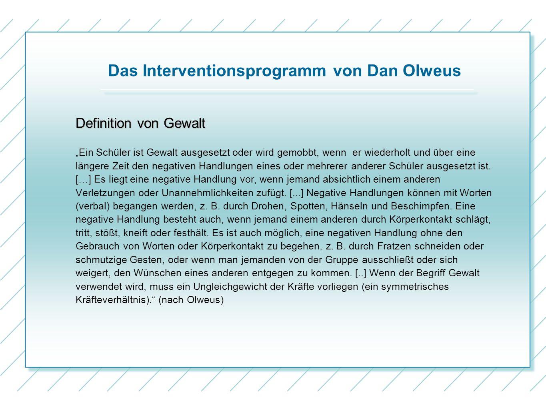 Das Interventionsprogramm von Dan Olweus