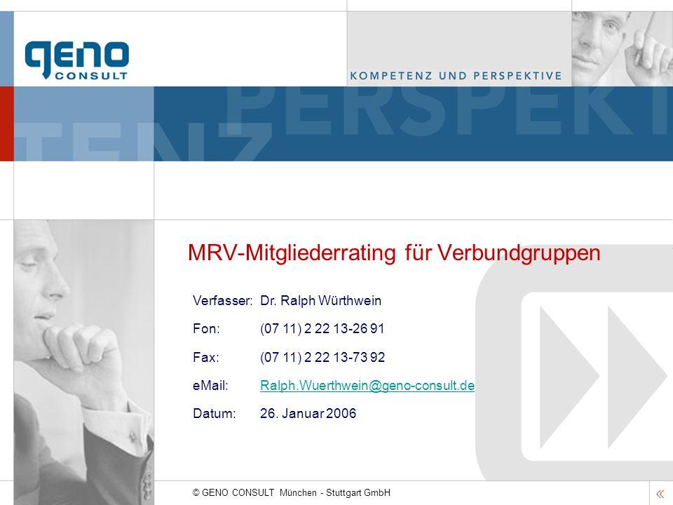 MRV-Mitgliederrating für Verbundgruppen