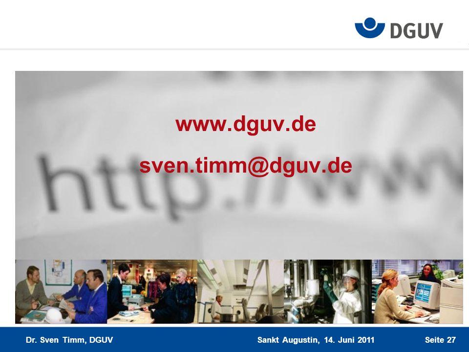 www.dguv.de sven.timm@dguv.de
