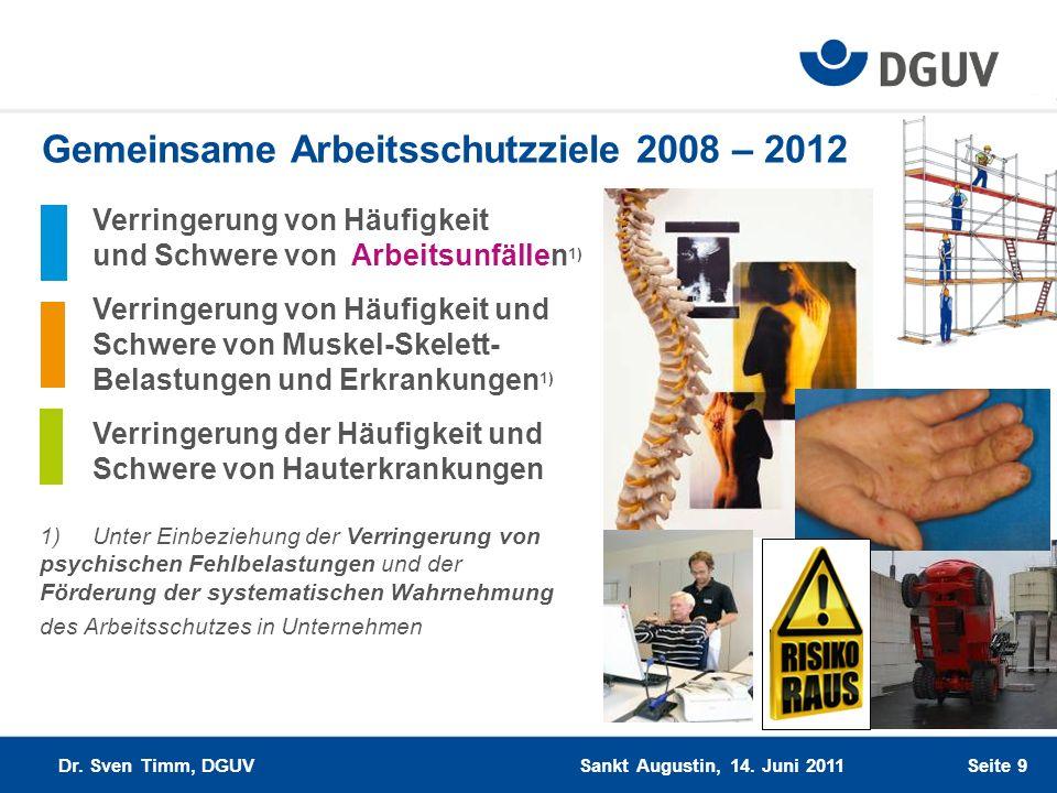 Gemeinsame Arbeitsschutzziele 2008 – 2012