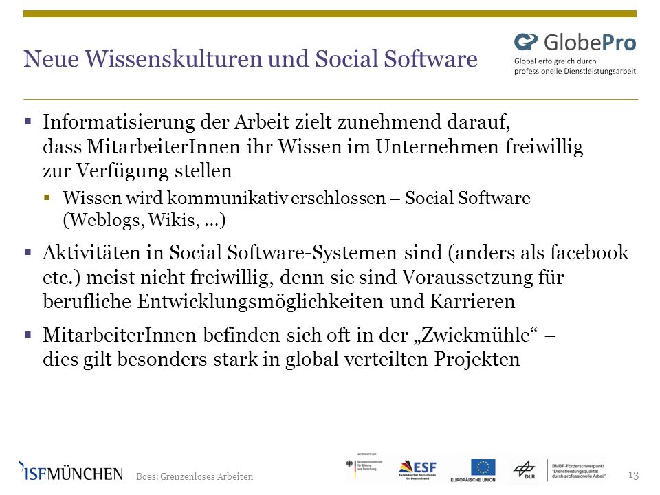 Neue Wissenskulturen und Social Software