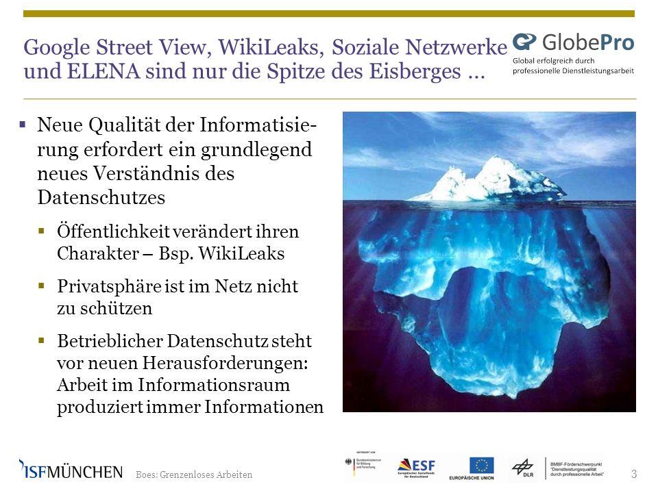 Google Street View, WikiLeaks, Soziale Netzwerke und ELENA sind nur die Spitze des Eisberges ...