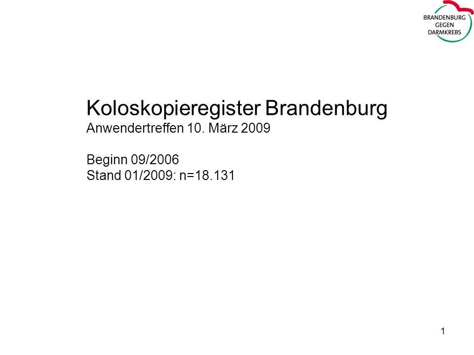 Koloskopieregister Brandenburg