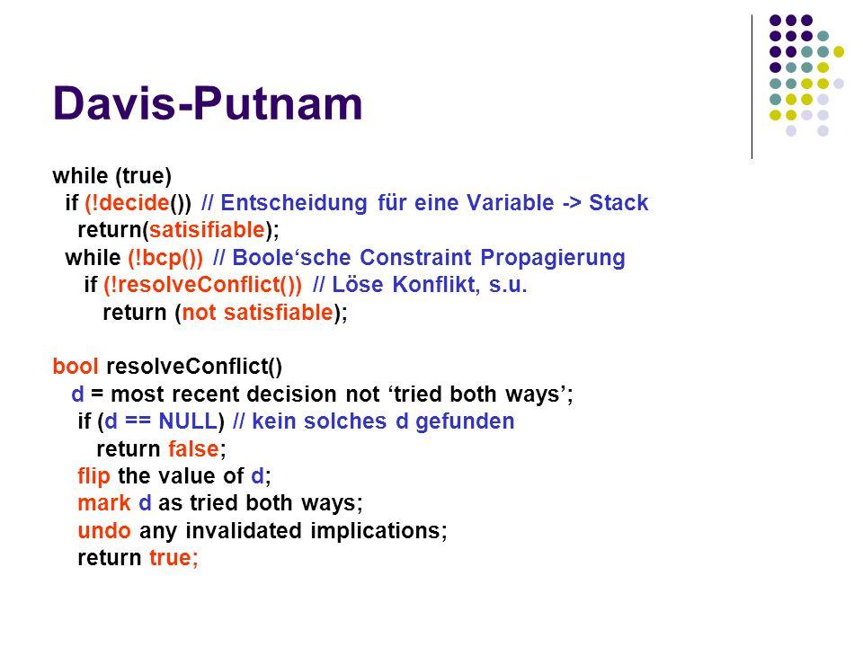 Davis-Putnam while (true)