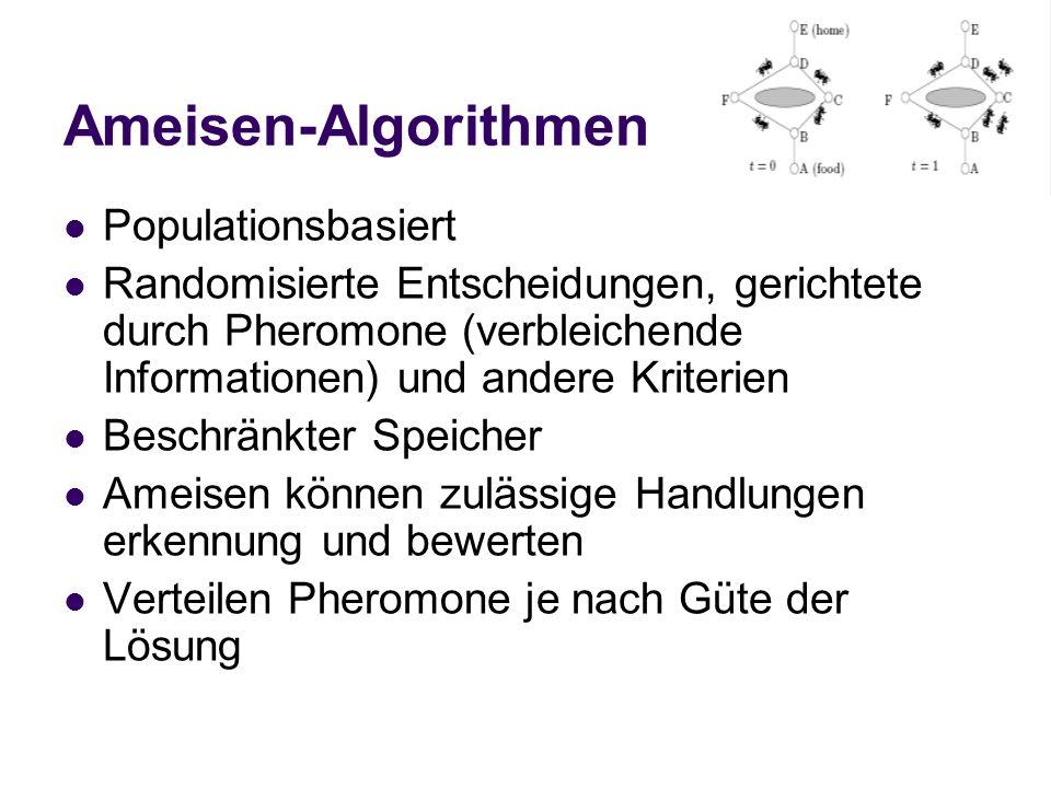 Ameisen-Algorithmen Populationsbasiert