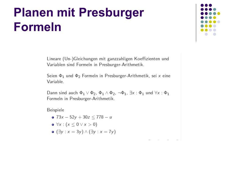 Planen mit Presburger Formeln
