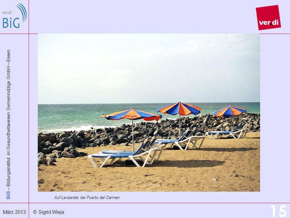 Auf Lanzarote bei Puerto del Carmen
