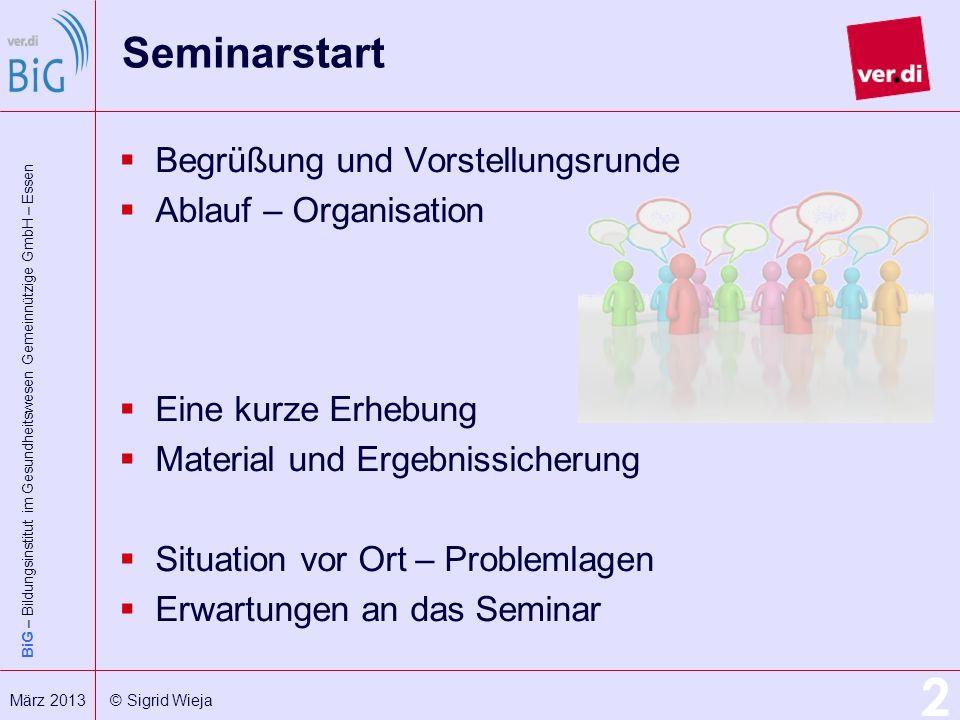 Seminarstart Begrüßung und Vorstellungsrunde Ablauf – Organisation