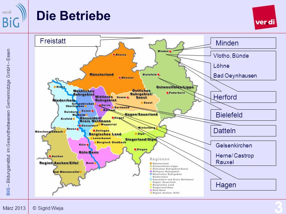 Die Betriebe Freistatt Minden Herford Bielefeld Datteln Hagen