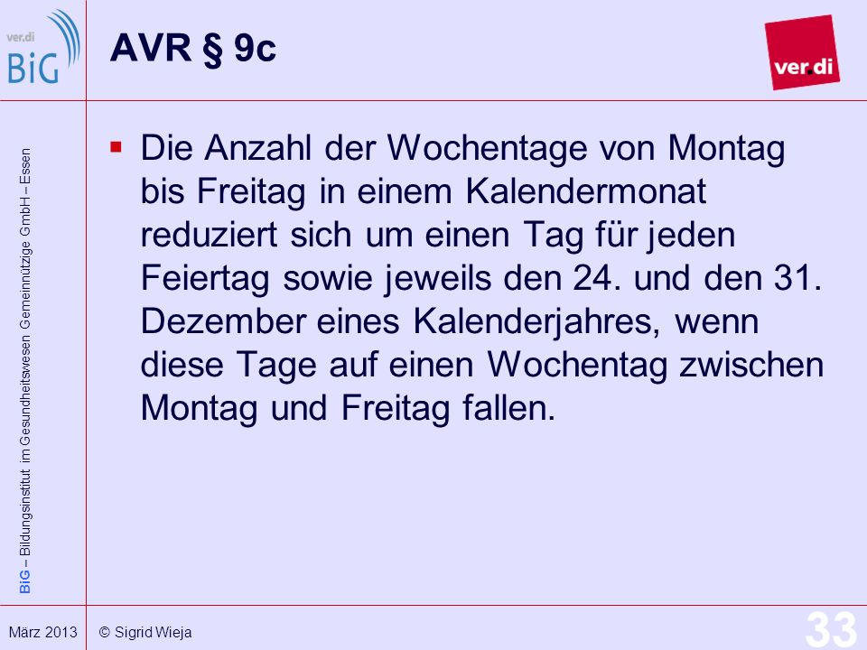AVR § 9c