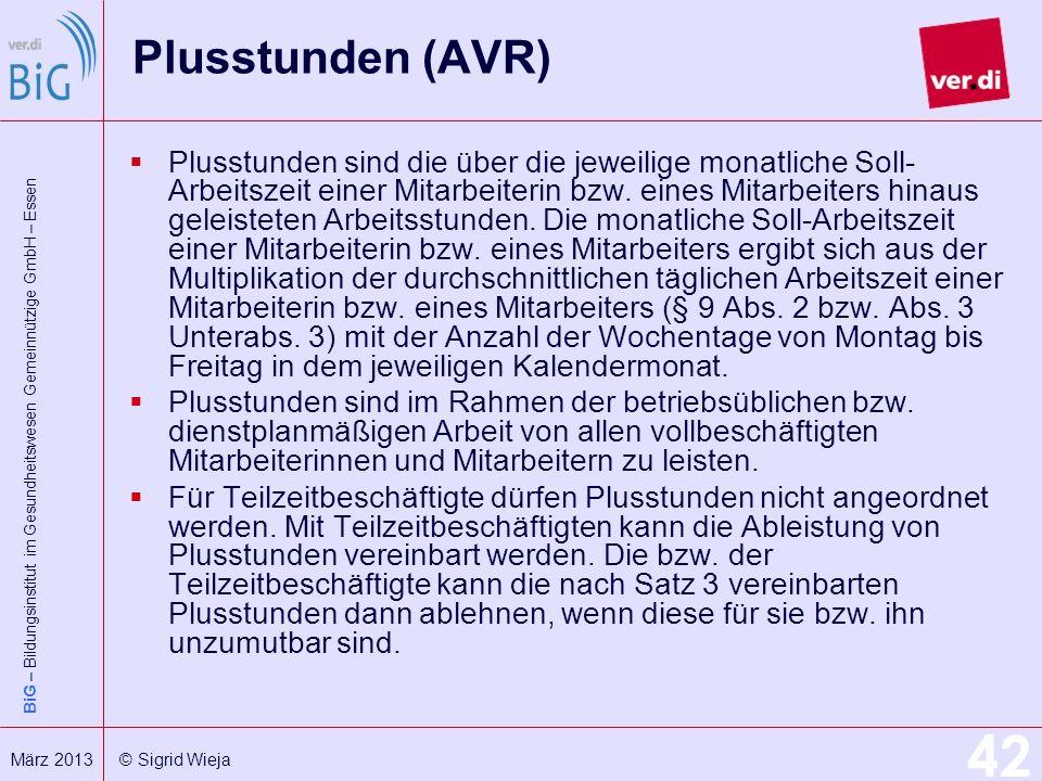Plusstunden (AVR)