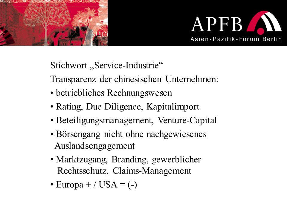 """Stichwort """"Service-Industrie"""