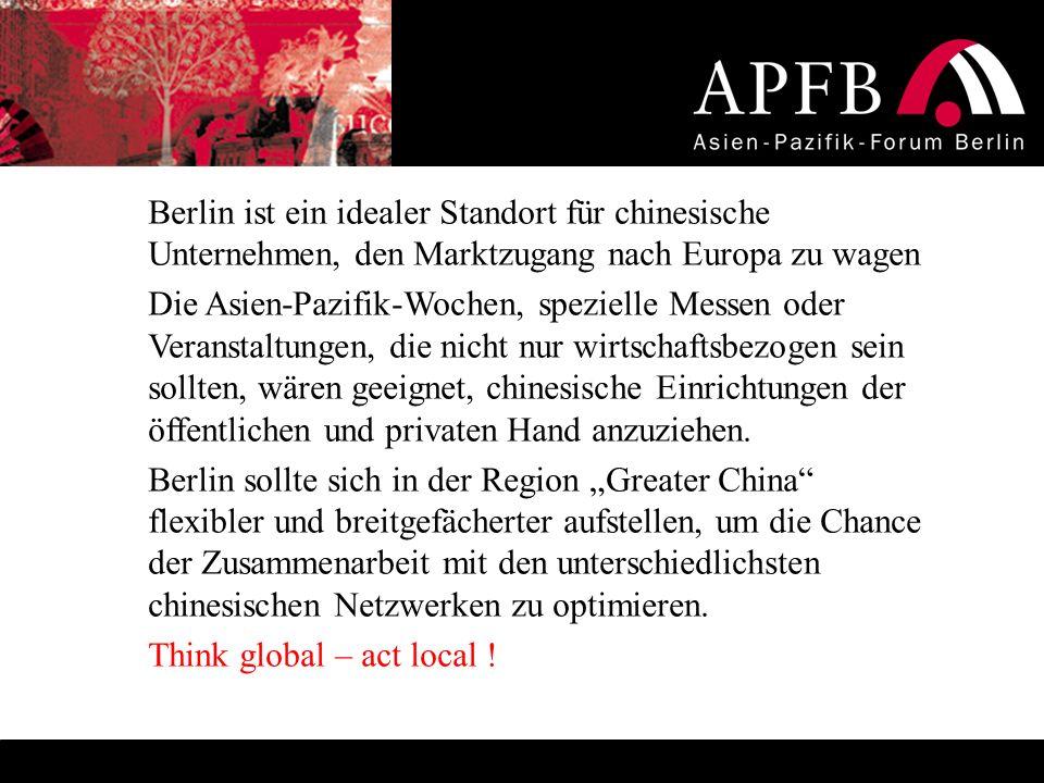 Berlin ist ein idealer Standort für chinesische Unternehmen, den Marktzugang nach Europa zu wagen