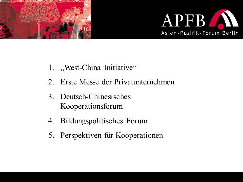 """West-China Initiative"