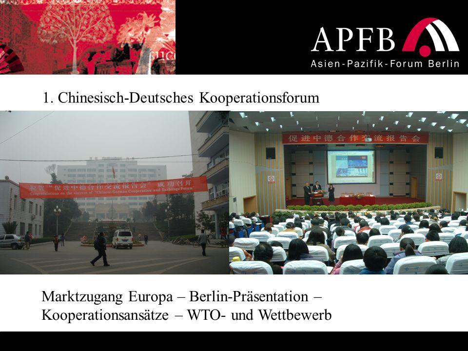 1. Chinesisch-Deutsches Kooperationsforum