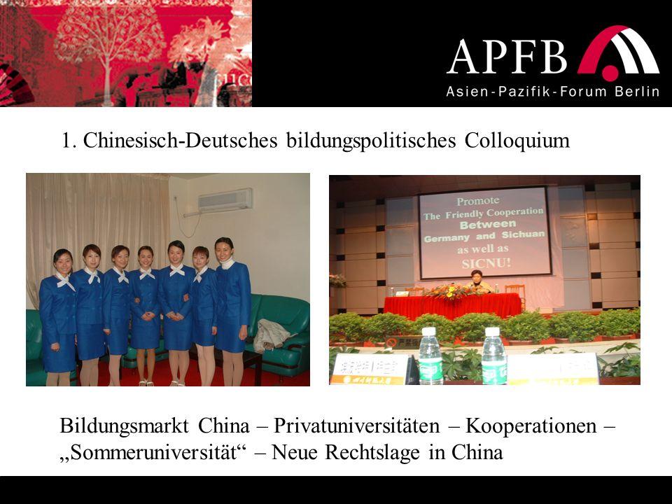 1. Chinesisch-Deutsches bildungspolitisches Colloquium