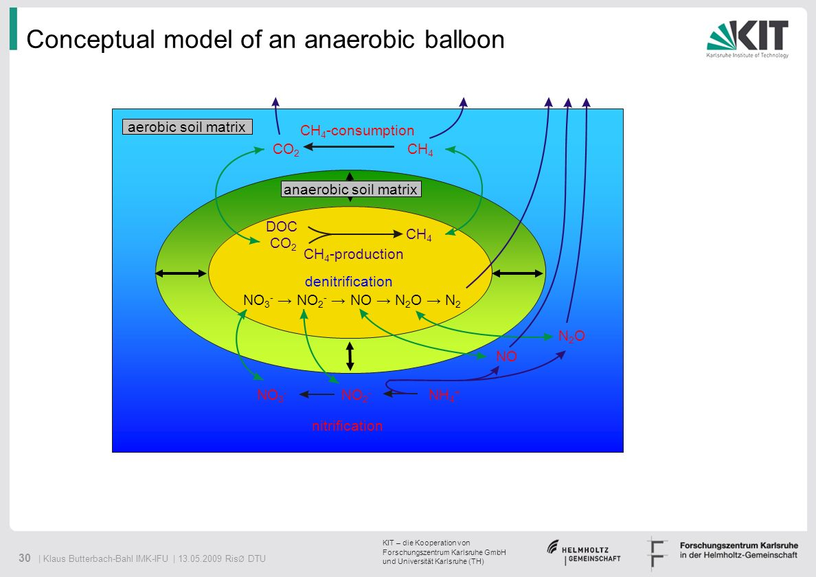 Conceptual model of an anaerobic balloon