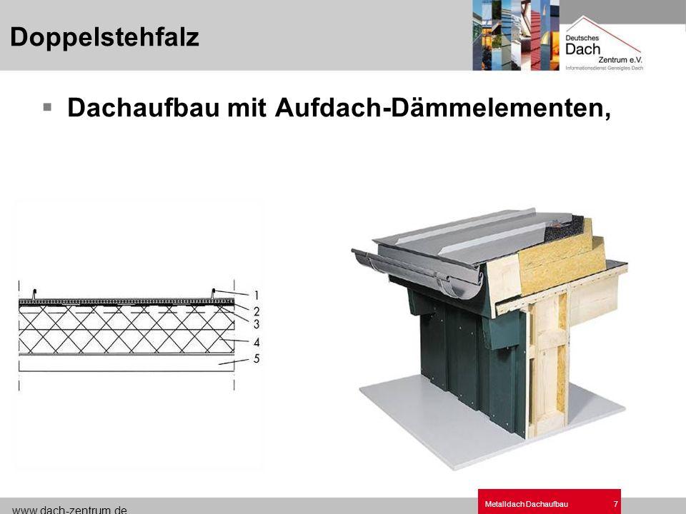 Metalldach Bauko Dachaufbau