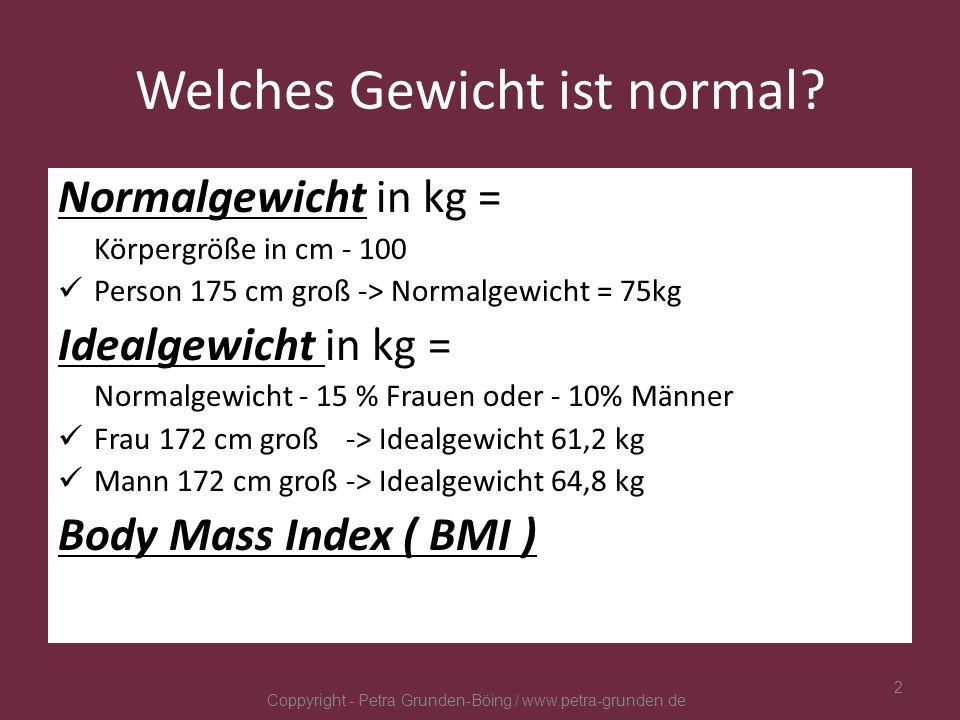 Welches Gewicht ist normal