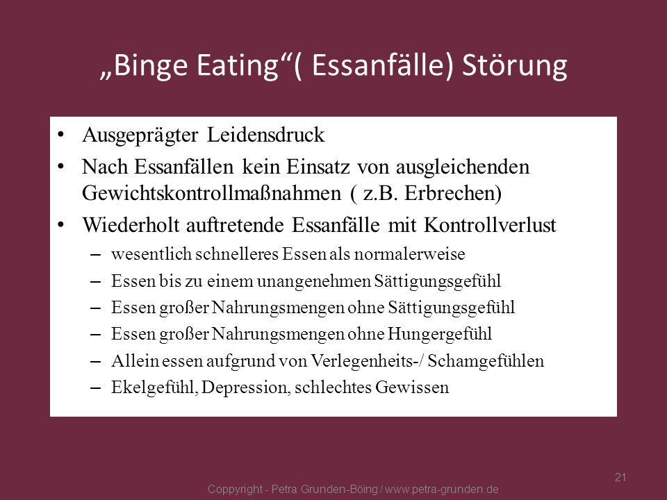 """""""Binge Eating ( Essanfälle) Störung"""