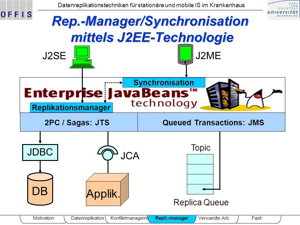 Rep.-Manager/Synchronisation mittels J2EE-Technologie