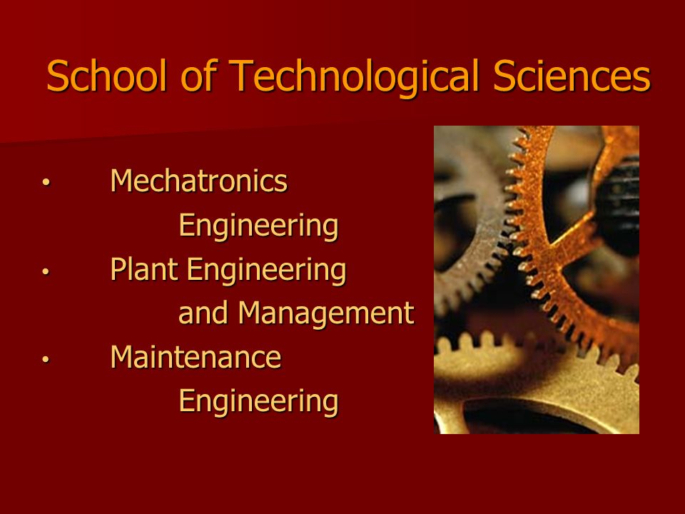 School of Technological Sciences