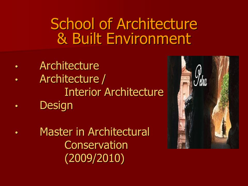 School of Architecture