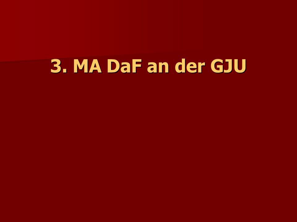 3. MA DaF an der GJU