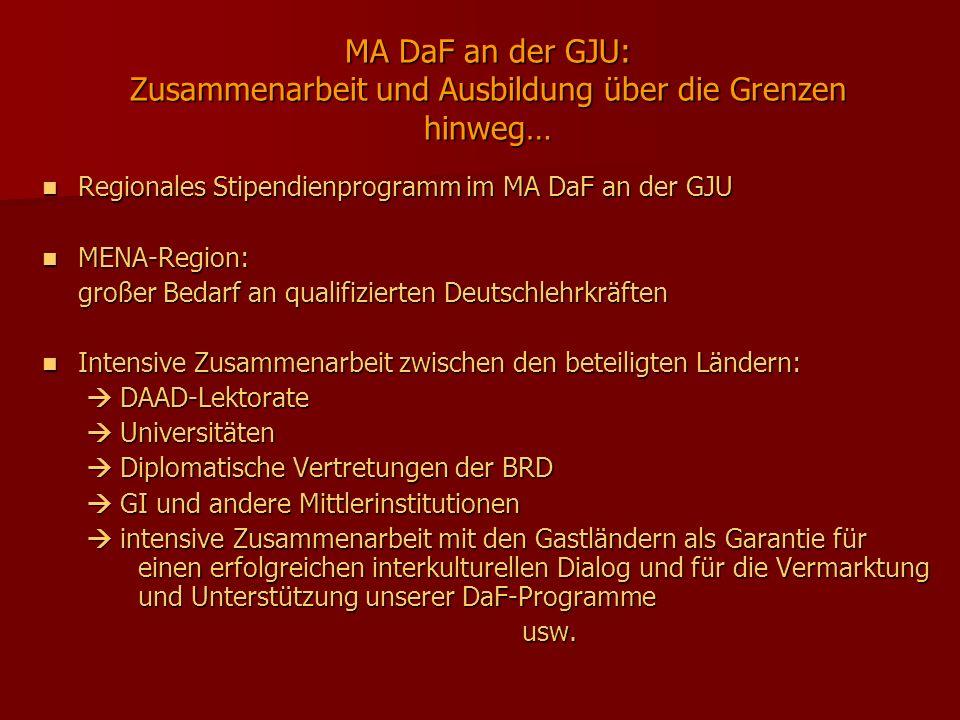 MA DaF an der GJU: Zusammenarbeit und Ausbildung über die Grenzen hinweg…