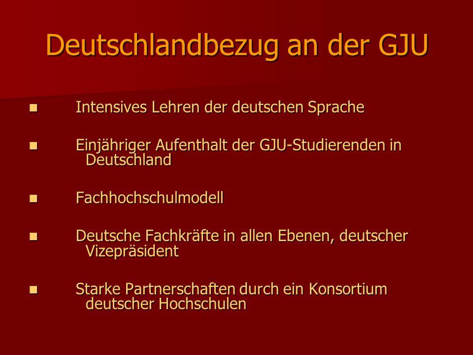 Deutschlandbezug an der GJU