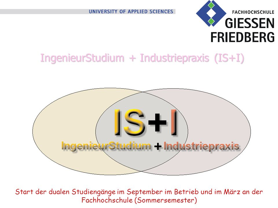 IngenieurStudium + Industriepraxis (IS+I)
