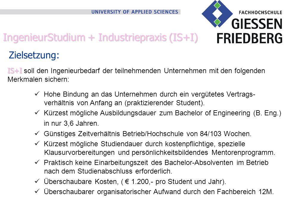 IngenieurStudium + Industriepraxis (IS+I)